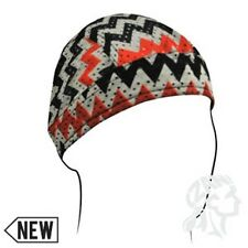 Zig Zag Stripes Black Red Vented Sweatband Biker Headwrap Durag Free Shipping