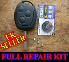 FORD Mondeo Fiesta Puma Focus REMOTE FOB KEY CASE FULL REPAIR KIT WITH BATTERY