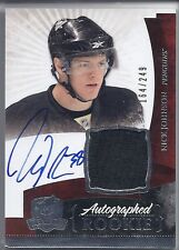 2010-11 UD THE CUP NICK JOHNSON ROOKIE PATCH AUTOGRAPH /249 135 UPPER DECK