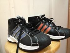ADIDAS PRO MODEL shoes CHANGE STRIPES sneakers BLACK High Tops 5.5 GOLF BACKPACK