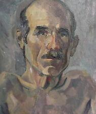Vintage impressionist oil painting man portrait