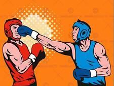PITTURA sport amatoriale Boxe Punch distaffatura GUANTO poster stampa bmp11353
