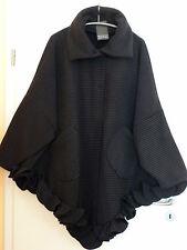 BORIS INDUSTRIES Jacke Mantel Volant Fleece 48 50 52 54 NEU Streifen LAGENLOOK