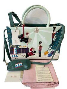 Radley Little Drummer Leather Picture Tote Bag Signature Shoulder Handbag