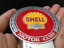 BADGE MOTOR CLUB SHELL CAR BADGE SHELL CLASSIC MOTORCYCLE