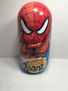 Mighty Beanz Lot - Marvel Spiderman Carrier With 41 Collectible Beans Preowned