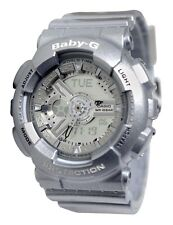 *NEW* CASIO LADIES BABY G  SILVER COMBI ALARM WATCH  BGA-110-8AER 8CR  RRP £149