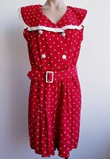 Vintage Red and White Polka Dot 80s Early 90s Romper By Scarlett Size 13-14