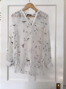 Ladies Shirt Mint Velvet Size 10