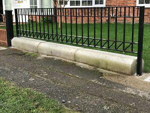 Low Wall Steel railings, Metal fencing, Bespoke orders