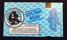 Vintage UNIVERSAL STUDIOS Orlando Florida Studio Pass Collectable UNUSED!