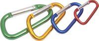 4 x SPRING LINK SET CAMPING CLIPS CARIBINER CARABNIER SNAP HOOKS KEY RING SET