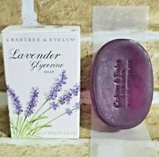 Crabtree & Evelyn Lavender Swiss Glycerine Soap 3.5 oz Rare 1 Bar Full Size