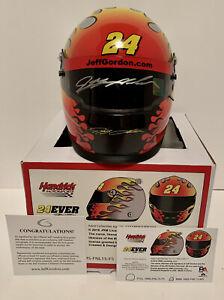 Jeff Gordon signed Hendrix Motor Sports 1:3 scale NASCAR mini helmet.