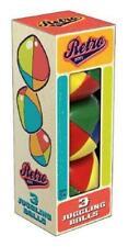 NEW Retro Toys Coloured Juggling Balls - Set 3