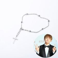 Kpop Jimin Silver Cross Tassel Bracelet Y2231
