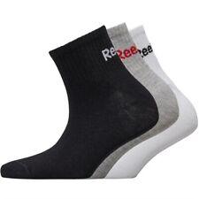 3 Pack Womens Reebok Quarter Socks NEW Size 3-7 UK Seller Logo Trainer