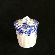 Shelley Dainty Blue Condiment Jelly Jar with lid