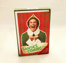 American Greetings Elf the Movie Santa's Coming! Boxed Christmas Cards #RXB22478