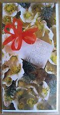 Grußkarte Scheune Wiehnachten und een gesundes nees Jahr Aufklappbar  C0229