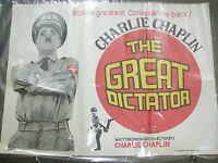 CHARLIE CHAPLIN THE GREAT DICTATOR comedy RARE POSTER INDIA NFDC original