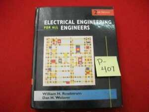 ELECTRICAL ENGINEERING FOR ALL ENGINEERS BY ROADSTRUM & WOLAVER GOOD CONDITION