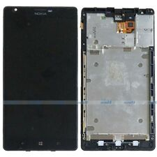 Black Touch Screen Digitizer + LCD Display Assembly + Frame for Nokia Lumia 1520