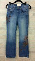 Z.Cavaricci Beaded Floral Jeans Blue Pink Size 5