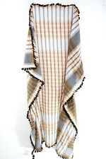 ULTRA TRENDY CASUAL  BROWN/GREY QUALITY SCARF MODERN PLAID PATTERN (MS25)