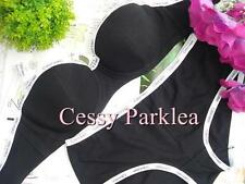 Calvin Klein Cotton Molded Cup Bra Set Panty Black L UK/US34/75A  AU10-12A/B
