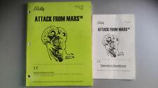 Pinball Manual - ATTACK FROM MARS - Bally