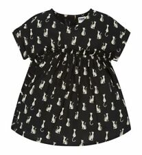 FEARNE BY FEARNE COTTON GIRLS BLOUSE BLACK CREAM CATS 2-3 YEARS NEW WITH TAGS