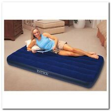 Twin Downy Airbed Mattress Inflatable Soft Plush Camping Spare Bed Wave Beam NEW