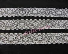 Lace Trim White 1 1/4 inch Wide Galoon 8 Yards Sewing Crafts Lot 10