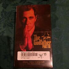 The Godfather Part Iii Vhs, Final Directors Cut W/ Additional Footage