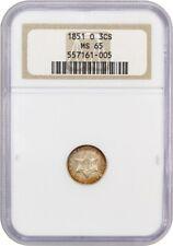 1851-O 3cS NGC MS65 - Popular & Scarce O-Mint Trime - 3-Cent Silver