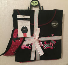 NEW LADIES EX-GEORGE SCOTTIE DOG PYJAMAS WITH EYE MASK SIZES 12-14 & 16-18