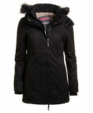 Superdry Microfibre Tall Parka chaquetas L-black / Black Fur