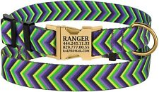 Dog Collar Personalized Collars for Dogs Custom Engraved Side Release Buckle