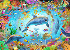 Colorful Undersea World Dolphins 500 Pcs Jigsaw Puzzle DIY Educational Toy Gift