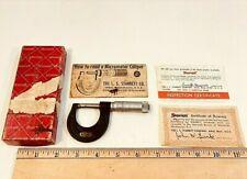 Starrett 436 1 0 1 Outside Micrometer Enameled Frame With Box Amp Documentation