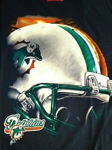 MIAMI DOLPHINS VINTAGE T SHIRT, NEW, LARGE, LICENSED, NFL