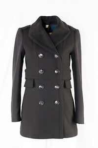 BNWT Burberry Newmont Pleated Military Trench Pea Coat UK 2 USA 0 IT 34 GER 30