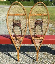 Very Nice 'Faber' SNOWSHOES 42x14 w/ LEATHER BINDINGS Snow Shoes L@@K!