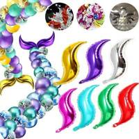 """S-shaped Foil Balloon Mermaid Tail Inflatable Air Balllons Birthday Party 18"""""""