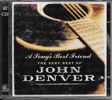 2 CD John Denver 'a song's Best Friend-The Very Best of John Denver' NUOVO/NEW/OVP