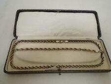 925 Silver Hallmarked Necklace and Matching Bracelet Set 16.4g