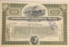 International Mercantile Marine Company 1917 Stock Certificate (Titanic)