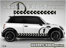 Mini Cooper S Works side racing stripes 016b vinyl stickers decals graphics