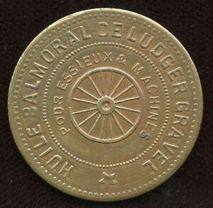 Br. 641. Ludger Gravel (wheel). Quebec Copper Token